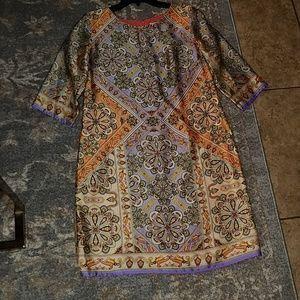 A line print dress